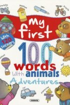 Adventures... with 120 stickers, my first 100 words with animals susaeta