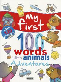 Adventures… with 120 stickers, my first 100 words with animals susaeta